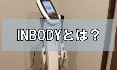 【発見】自分の筋肉量が分かる!INBODY測定器とは?【初心者】